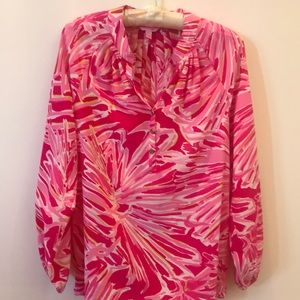 Lily Pulitzer long sleeve pullover blouse